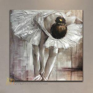 Tranh nổi sơn dầu cô gái - Vũ công Bale