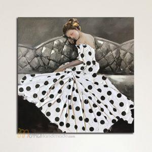 Tranh nổi sơn dầu cô gái - Sleeping Beauty