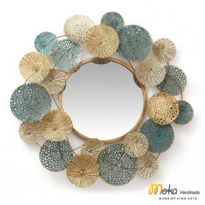 gương hoa tròn