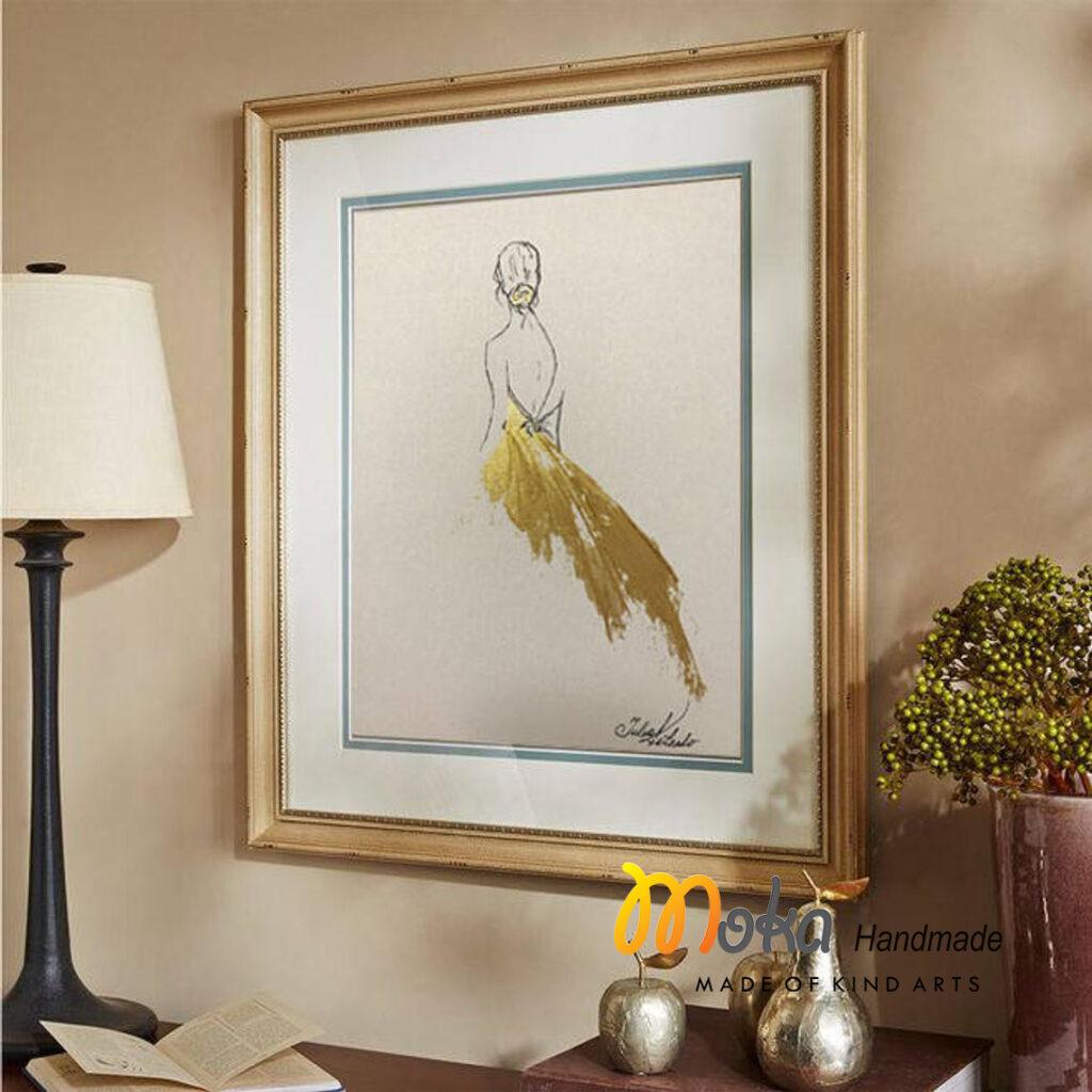 tranh dat vang golden dress