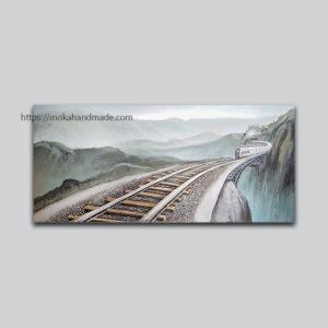 Tranh noi son dau railway