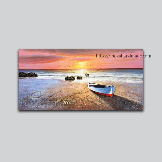 tranh noi son dau sunset